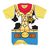 Toy Story Sheriff Woody Cowboy Costume Adult T-Shirt (Small, Woody)