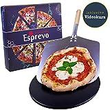 Esprevo Pizzastein für Backofen und Gasgrill | Pizza...