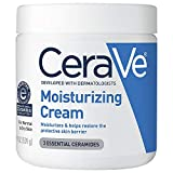 CeraVe Moisturizing Cream   Body and Face Moisturizer for Dry Skin   Body Cream with Hyaluronic Acid and Ceramides   19 Ounce