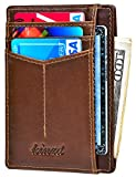 Slim Wallet RFID Front Pocket Wallet Minimalist Secure Thin Credit Card Holder (One Size, Victor Oil...
