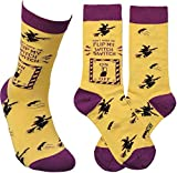 Primitives by Kathy LOL Made You Smile Silly Socks, One Size, Flip My Witch Switch