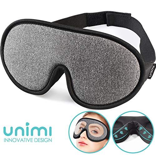 Masque de sommeil, masque pour les yeux Unimi pour dormir 3D respirant...