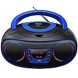 Lecteur CD Portable Boombox, Bluetooth | Radio FM | USB | Lecture MP3 |...