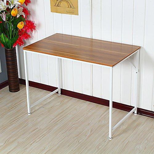 Ospi rettangolare in legno studio tavolo scrivania per computer computer PC workstation gambe in...