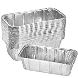 Thick Aluminum Loaf Pans (30 Pack, 8 x 4 Inches)   2 Lb. Mini Baking Pans for Bread, Lasagna, Meatloaf, Cake   Heavy Duty Disposable Oven Bake Tin for Cooking & Food Storage