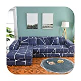 Fun-boutique Please Order Sofa Set (2Piece) If is Chaise Longue Corner Sofa Elastic Couch Cover Stretch Sofa Covers for Living Room Geometric-Pattern 16-2Seater and 2Seater