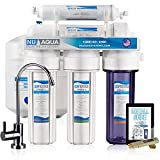 NU Aqua Platinum Series Deluxe High Capacity 100GPD 5-Stage Under Sink Reverse Osmosis Ultimate Purifier Drinking Water Filter System - Bonus PPM Meter and Installation DVD