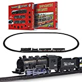 FENFA Mini Electric Train Set Toys for Boys and Girls Battery Operated Small Classic Train Track Set for Children Christmas Birthday Gift 1638-3D