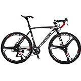 Eurobike Road Bike TSM550 Bike 21 Speed Dual Disc Brake 54CM 700C 3-Spoke Wheels Road Bicycle