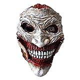 DMAR Halloween Creepy Mask Costume Party Scary Clown Mask Joker Mask Horror Costume Props Black