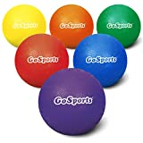 "GoSports 5"" Inflatable Dodgeball 6 Pack - No Sting Balls - Includes Ball Pump & Mesh Bag"