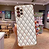 N\C YXKJ Cover Compatibile con Samsung Galaxy A52/A52 5G/A52s 5G, Custodia Protettiva Anti-Caduta e AntiGraffio con Placcatura in TPU Morbida - Bianca