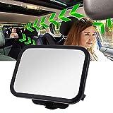 Bébé Siège arrière miroir, 360 ° réglable arrière de voiture de miroir...