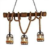 RUNNUP Vintage Corde Plafond Éclairage Suspendu Lumière Suspendus...