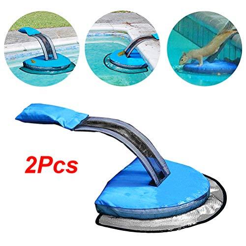 BSTCAR 2 Stück Poolfluchtrampe, Poolfluchtrampe für Kleintier Swimming, Kleintier-fluchtwerkzeug Pool Rutsche