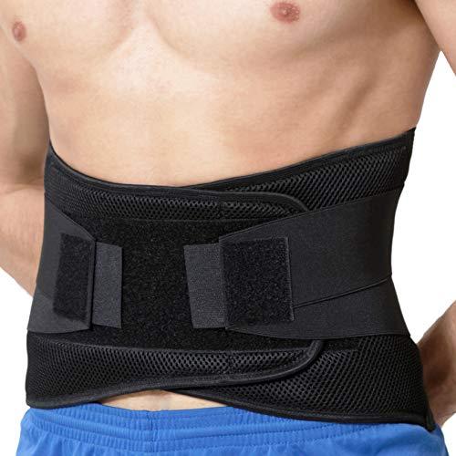 NeoTech Care Adjustable Compression Back Brace Lumbar Support Belt, Black, Size XXXL