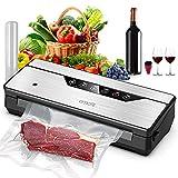 Vacuum Sealer Machine, OMOTE Food Vacuum Sealer for Food Storage, Dry, Moist and Pulse 3 Modes,...