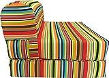 D&D Futon Furniture Multi Colors Stripes Sleeper Chair Folding Foam...
