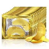 Maschera sotto gli occhi al collagene oro anti-età con acido ialuronico 24 k Gold Patch per idratare e ridurre le occhiaie, regalo di lusso per donne e uomini (25 paia)