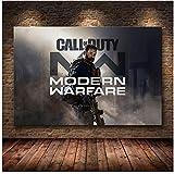 Call of Duty Modern Warfare Mur Art Toile Affiche Et Imprimer Toile...