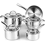Cooks Standard 9-Piece Classic Stainless Steel Cookware Set