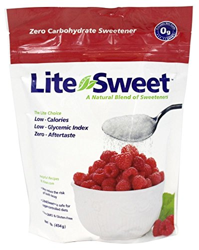 Lite and Sweet Natural Erythritol and Xylitol Sweetener Blend, 1 Pound