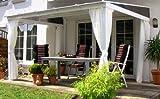 LECO - tonnelle de Jardin adossée avec Rideaux 3,60 x 3,00ml