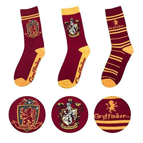 Cinereplicas Harry Potter - Confezione da 3 Paia Unisex - Calze con emblemi di Hogwarts - Scarpe da 35 a 47