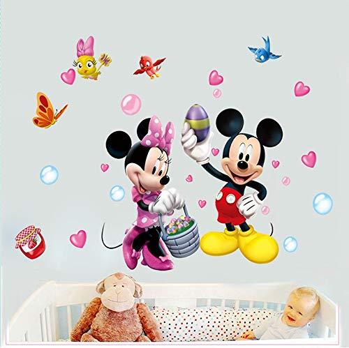 Kibi adesivi Muro Minnie Disney Adesivi Muro Mickey Mouse Adesivo Da Parete Minnie Camera Da Letto...