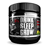 Rich Piana 5% Nutrition Drink Sleep Grow Nighttime Aminos Post Workout Muscle Building Recovery Supplement Drink with BCAAs, Joint Support Blend (Lemon Lime)