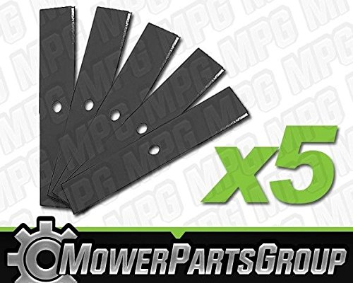 MowerPartsGroup (5) Heavy Duty Edger Blades 10' x 2' Fits Tanaka TLE-500 TLE-550 TLE-600