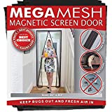 MegaMesh Magnetic Screen Door, Black