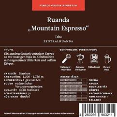 Berliner Kaffeerösterei Ruanda Mountain Espresso