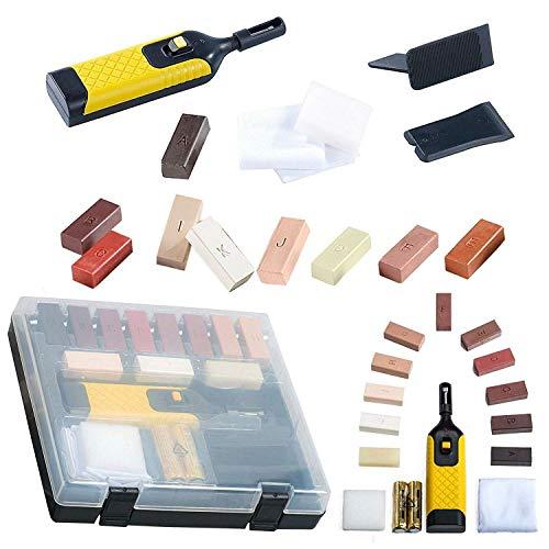 True Face - Kit di riparazione fai da te per pavimenti laminati, con cera per graffi