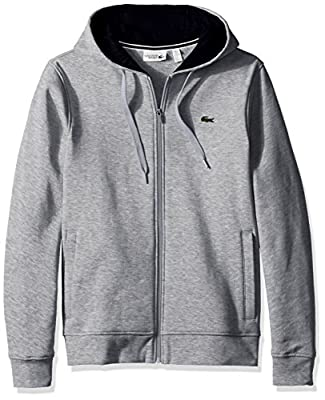 A beyond basic, full zip hoodie created with performance fabric, plus all the extras to make this piece perfect for your weekend wardrobe Regular Fit Full zipper closure and hood with drawstring for an adjustable fit Contrasted hood lining in soft je...