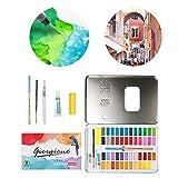 Ensembles de peinture à l'aquarelle,72pcs/set Fournitures de peinture...