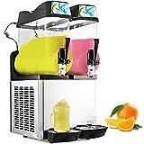 Happybuy 110V Commercial Slushy Machine 1600W Stainless Steel Margarita Smoothie Frozen Drink Maker...