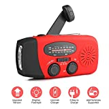 Radio Solaire Portable, AOZBZ Main Manivelle Self...