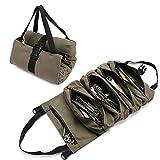 QCWN Sac à outils en toile avec 5 poches zippées pour les professionnels,...