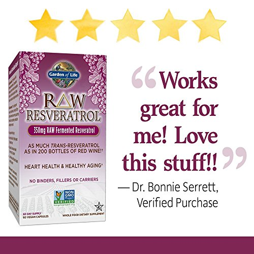 Garden of Life Heart Resveratrol Supplement - Raw Whole Food Antioxidant Formula for Heart Health, 60 Capsules 3