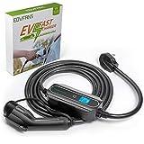 Eovfans Home Portable EV Charger,NEMA14-50 220V-240V Upgraded Electric Vehicle Charging Cable,32 Amp EV Charger Level 2 for J1772 EV Car Charger(Black)