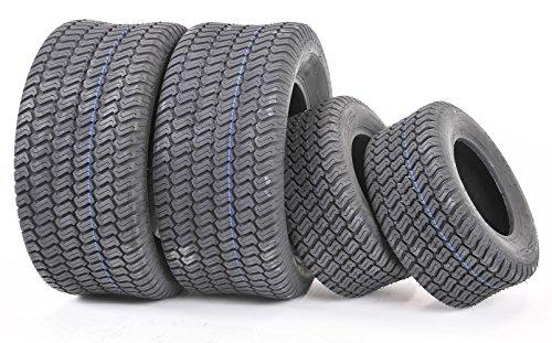 Set of 4 New Lawn Mower Turf Tires 15x6-6 Front & 18x9.5-8 Rear /4PR -13016/13032
