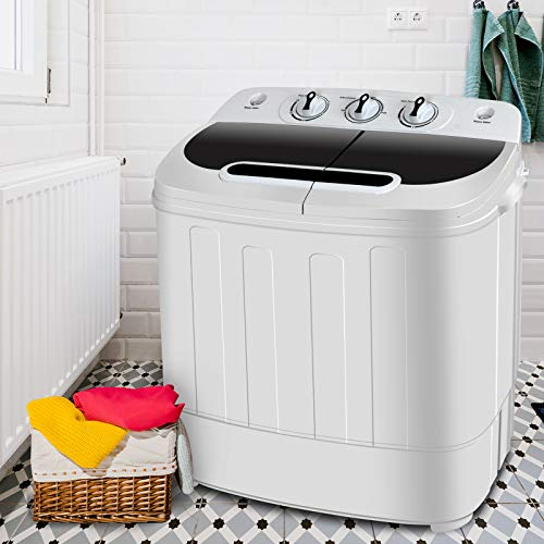 SUPER DEAL Portable Compact Mini Twin Tub Washing Machine...