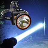 OLIDEAR LED Headlamp Torch Outdoor Rechargeable Bright Flashlight Headlight for Camping Hunting Fishing