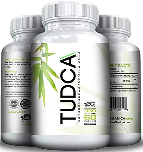 TUDCA (350mg x 60ct) by EVOGANICA - Tauroursodeoxycholic Acid