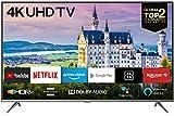 Type: 4K UHD, Plat, TV LED, Android 9.0, Smart TV noir Résolution: 3840 x 2160 pixels (4K / Ultra HD), HDR 10, HLG, UHD upscaling, Smart HDR, micro gradation Réception TV numérique: DVB-C / S2 / T2 HD, triple tuner, 3 x HDMI 2.0, 2 x USB 2.0, 1x L ...