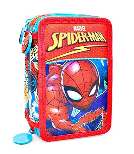 Astuccio Completo 3 zip Spiderman 20x12,5x5,5 cm