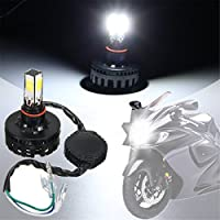 High intensity COB LED,DC10V-30V for most Motorcycle. 6000K xenon white and 3500LM super bright. Life span: +50K hours, Easy to install Compatible with bike, light range 200 Mtr. This listing is by DELHITRADERSS Sales. If you do not see above item So...