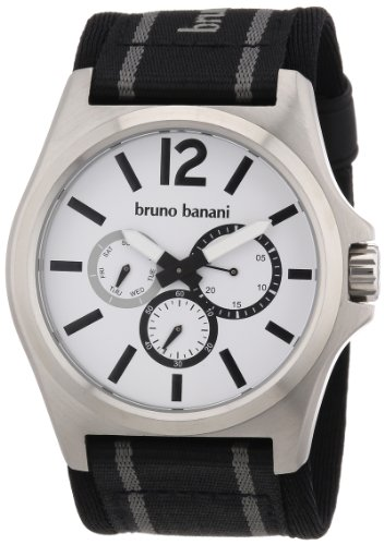 Bruno Banani Herren-Armbanduhr XL Teris Analog Nylon BR21028
