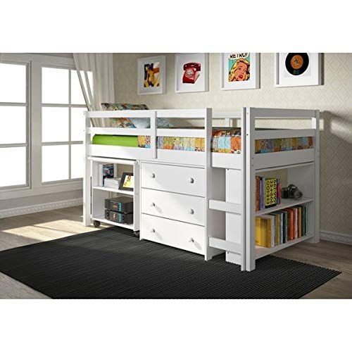 MALINA Bunker Bed with Storage 79x41x43 inches (LxWxH)